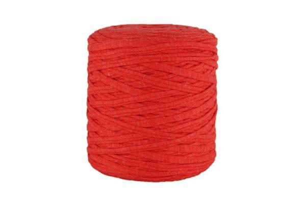 Trapilho XL rouge grenadine - Bobine, pelote de t-shirt yarn, Hooked, zpagetti, trapillo. Fil de tissu recyclé pour crochet