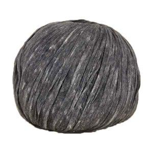 Trapilho paper gris anthracite - Bobine, pelote de t-shirt yarn, Hooked, zpagetti, trapillo pour crochet et tricot. Fil de tissu recyclé souple et léger pour sacs, pochettes, bijoux
