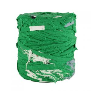 Trapilho XL vert blanc bleu - Bobine, pelote de t-shirt yarn, Hooked, zpagetti, trapillo. Fil de tissu recyclé pour crochet