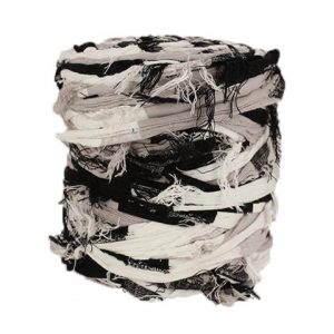 Trapilho XL gris noir blanc- Bobine, pelote de t-shirt yarn, Hooked, zpagetti, trapillo. Fil de tissu recyclé pour crochet