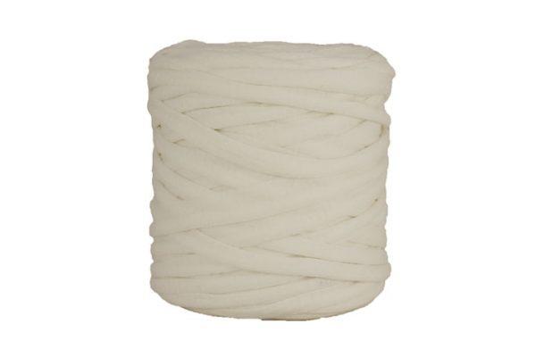 Trapilho XL blanc cassé - Bobine, pelote de t-shirt yarn, Hooked, zpagetti, trapillo. Fil de tissu recyclé pour crochet