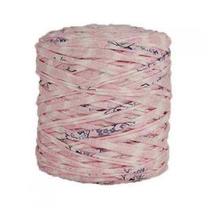 Trapilho XL imprimé fleuri - Bobine, pelote de t-shirt yarn, Hooked, zpagetti, trapillo. Fil de tissu recyclé pour crochet