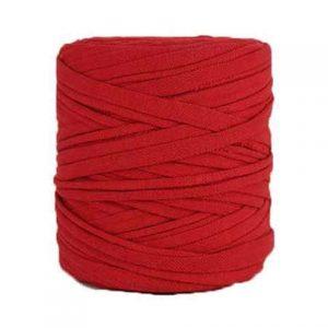 Trapilho XL rouge - Bobine, pelote de t-shirt yarn, Hooked, zpagetti, trapillo. Fil de tissu recyclé pour crochet