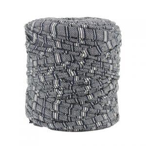Trapilho XL marine et blanc cassé- Bobine, pelote de t-shirt yarn, Hooked, zpagetti, trapillo. Fil de tissu recyclé pour crochet et tricot