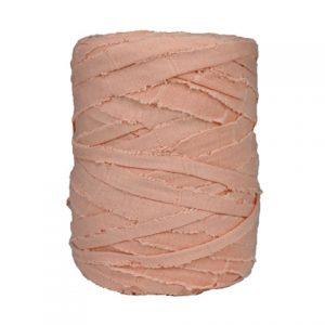 Trapilho L rose saumon - Bobine, pelote de t-shirt yarn, Hooked, zpagetti, trapillo. Fil de tissu recyclé pour crochet et tricot