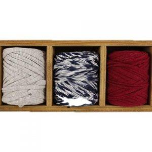 Trapilho - Petite bobine, pelote de t-shirt yarn, Hooked, zpagetti, trapillo. Fil de tissu recyclé pour crochet tricot, bijoux,