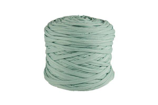 Trapilho léger bleu azurin - Bobine, pelote de t-shirt yarn, Hooked, zpagetti, trapillo. Fil de tissu recyclé pour crochet et tricot