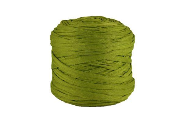 Trapilho léger vert olive- Bobine, pelote de t-shirt yarn, Hooked, zpagetti, trapillo. Fil de tissu recyclé pour crochet et tricot