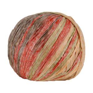 Trapilho paper marron saumon - Bobine, pelote de t-shirt yarn, Hooked, zpagetti, trapillo pour crochet et tricot. Fil de tissu recyclé souple et léger pour sacs, pochettes, bijoux