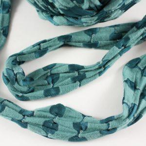 Trapilho au mètre bleu - Bobine, pelote de t-shirt yarn, Hooked, zpagetti, trapillo. Fil de tissu recyclé pour crochet , bijoux, couture , décoration