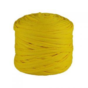 Trapilho léger jaune citron - Bobine, pelote de t-shirt yarn, Hooked, zpagetti, trapillo. Fil de tissu recyclé pour crochet et tricot