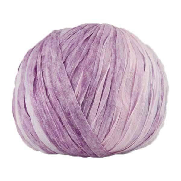 Trapilho paper mauve rose gris - Bobine, pelote de t-shirt yarn, Hooked, zpagetti, trapillo pour crochet et tricot. Fil de tissu recyclé souple et léger pour sacs, pochettes, bijoux
