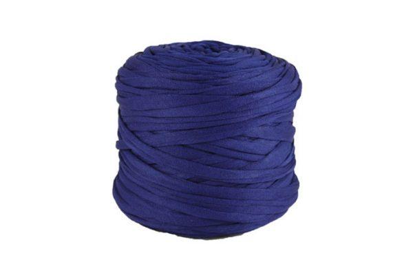 Trapilho léger bleu cobalt - Bobine, pelote de t-shirt yarn, Hooked, zpagetti, trapillo. Fil de tissu recyclé pour crochet et tricot