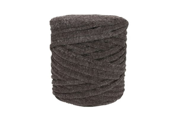 Trapilho XL marron - Bobine, pelote de t-shirt yarn, Hooked, zpagetti, trapillo. Fil de tissu recyclé pour crochet et tricot
