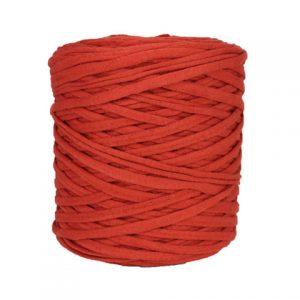 Trapilho XL rouge paprika - Bobine, pelote de t-shirt yarn, Hooked, zpagetti, trapillo. Fil de tissu recyclé pour crochet et tricot