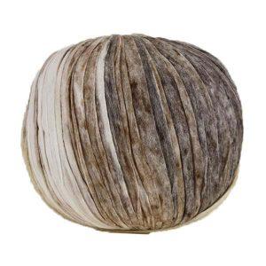 Trapilho paper beige marron - Bobine, pelote de t-shirt yarn, Hooked, zpagetti, trapillo pour crochet et tricot. Fil de tissu recyclé souple et ultra léger pour sacs, pochettes, bijoux