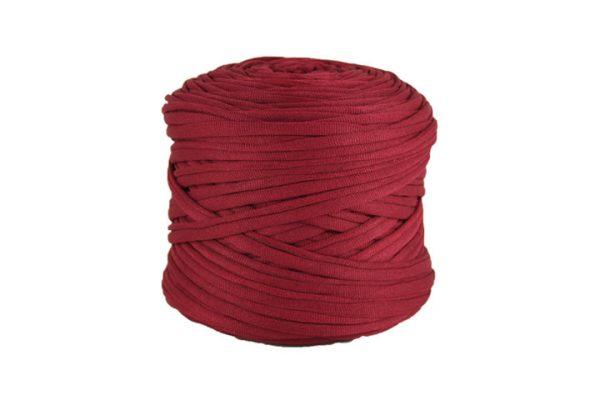 Trapilho léger bordeaux - Bobine, pelote de t-shirt yarn, Hooked, zpagetti, trapillo. Fil de tissu recyclé pour crochet et tricot