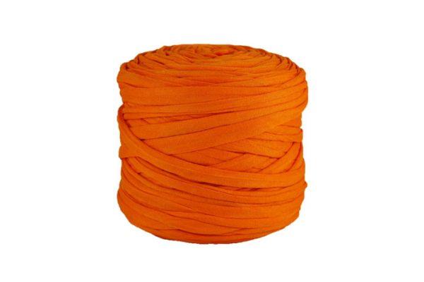 Trapilho léger mandarine - Bobine, pelote de t-shirt yarn, Hooked, zpagetti, trapillo. Fil de tissu recyclé pour crochet et tricot