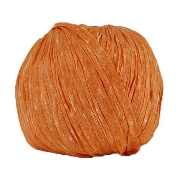 Trapilho paper mandarine - Bobine, pelote de t-shirt yarn, Hooked, zpagetti, trapillo pour crochet et tricot. Fil de tissu recyclé souple et ultra léger pour sacs, pochettes, bijoux