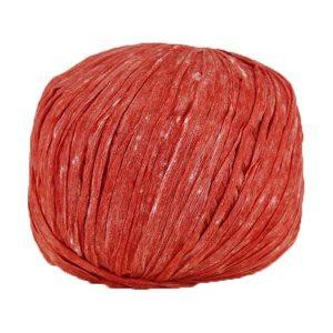 Trapilho paper rouge - Bobine, pelote de t-shirt yarn, Hooked, zpagetti, trapillo pour crochet et tricot. Fil de tissu recyclé souple et ultra léger pour sacs, pochettes, bijoux
