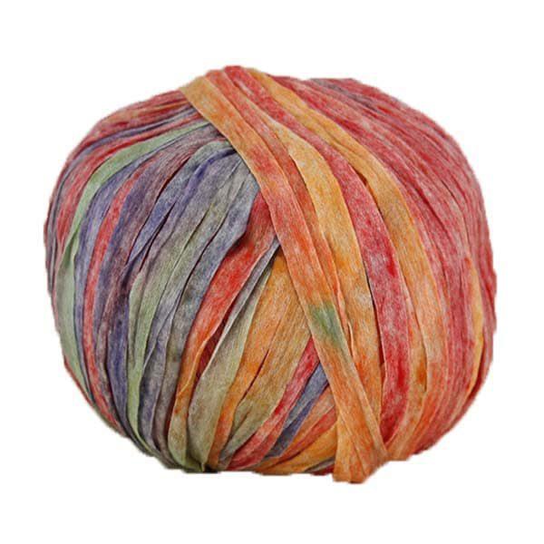 Trapilho paper multicolore - Bobine, pelote de t-shirt yarn, Hooked, zpagetti, trapillo pour crochet et tricot. Fil de tissu recyclé souple et ultra léger pour sacs, pochettes, bijoux