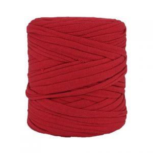 Trapilho rouge écrevisse - Bobine, pelote de t-shirt yarn, Hooked, zpagetti, trapillo. Fil de tissu recyclé pour crochet, tricot, tissage, macramé