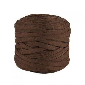 Trapilho léger marron chocolat - Bobine, pelote de t-shirt yarn, Hooked, zpagetti, trapillo. Fil de tissu recyclé pour crochet et tricot