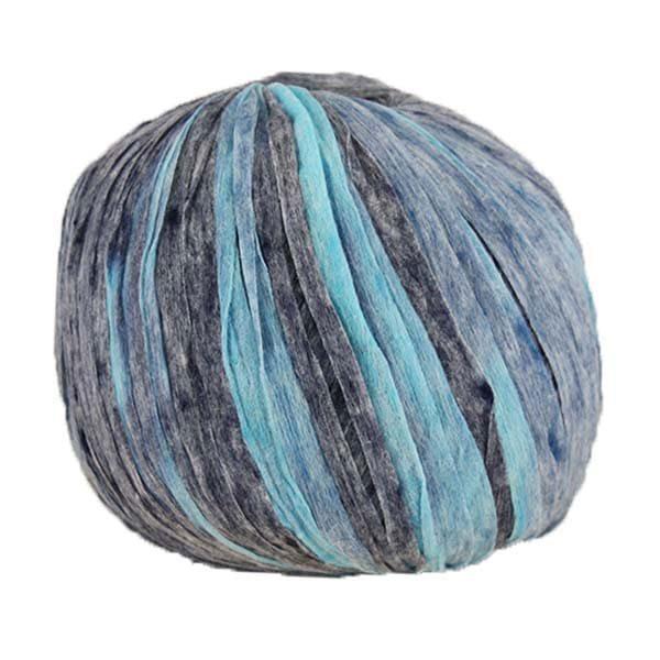 Trapilho paper camaÏeu bleu - Bobine, pelote de t-shirt yarn, Hooked, zpagetti, trapillo pour crochet et tricot. Fil de tissu recyclé souple et ultra léger pour sacs, pochettes, bijoux