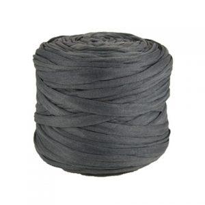 Trapilho léger gris ardoise - Bobine, pelote de t-shirt yarn, Hooked, zpagetti, trapillo. Fil de tissu recyclé pour crochet et tricot