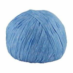 Trapilho paper bleu azur - Bobine, pelote de t-shirt yarn, Hooked, zpagetti, trapillo pour crochet et tricot. Fil de tissu recyclé souple et ultra léger pour sacs, pochettes, bijoux