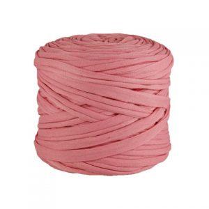 Trapilho léger rose - Bobine, pelote de t-shirt yarn, Hooked, zpagetti, trapillo. Fil de tissu recyclé pour crochet et tricot