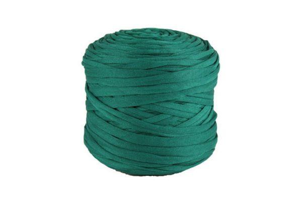 Trapilho léger vert canard - Bobine, pelote de t-shirt yarn, Hooked, zpagetti, trapillo. Fil de tissu recyclé pour crochet et tricot