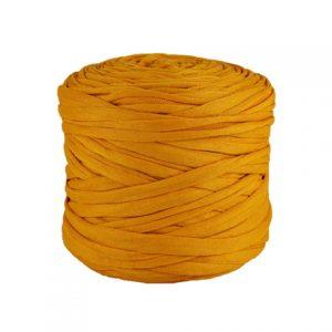 Trapilho léger jaune safran - Bobine, pelote de t-shirt yarn, Hooked, zpagetti, trapillo. Fil de tissu recyclé pour crochet et tricot