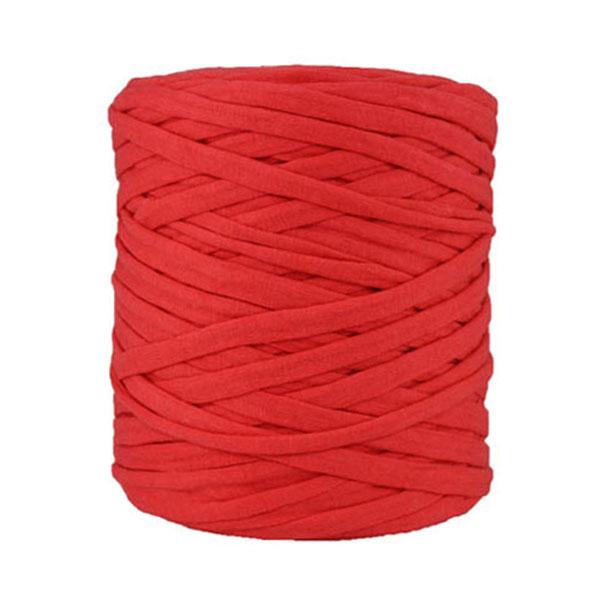Trapilho rouge - Bobine, pelote de t-shirt yarn, Hooked, zpagetti, trapillo. Fil de tissu recyclé en jersey pour crochet, tricot, tissage, macramé, bijoux