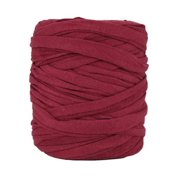 Trapilho bordeaux (sortent de ruban plat) - Bobine, pelote de t-shirt yarn, Hooked, zpagetti, trapillo. Fil de tissu recyclé en jersey pour crochet, tricot, tissage, macramé, bijoux