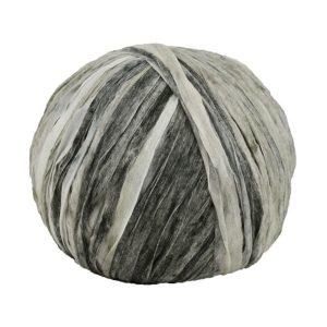 Trapilho paper camaïeu gris - Bobine, pelote de t-shirt yarn, Hooked, zpagetti, trapillo pour crochet et tricot. Fil de tissu recyclé souple et ultra léger pour sacs, pochettes, bijoux
