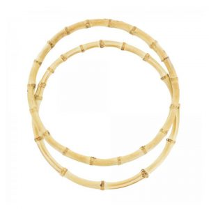 Anses de sac - Poignées en bambou - 17 cm
