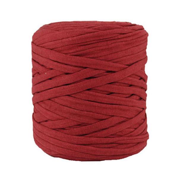 Trapilho bordeaux - Bobine, pelote de t-shirt yarn, Hooked, zpagetti, trapillo. Fil de tissu recyclé en jersey pour crochet, tricot, tissage, macramé, bijoux