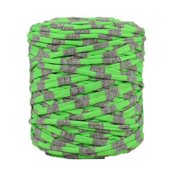 Trapilho rayé vert gris - Bobine, pelote de t-shirt yarn, Hooked, zpagetti, trapillo. Fil de tissu recyclé en jersey pour crochet, tricot, tissage, macramé, bijoux