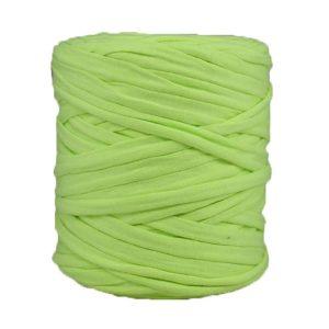 Trapilho jaune anis - Bobine, pelote de t-shirt yarn, Hooked, zpagetti, trapillo. Fil de tissu recyclé en jersey pour crochet, tricot, tissage, macramé, bijoux
