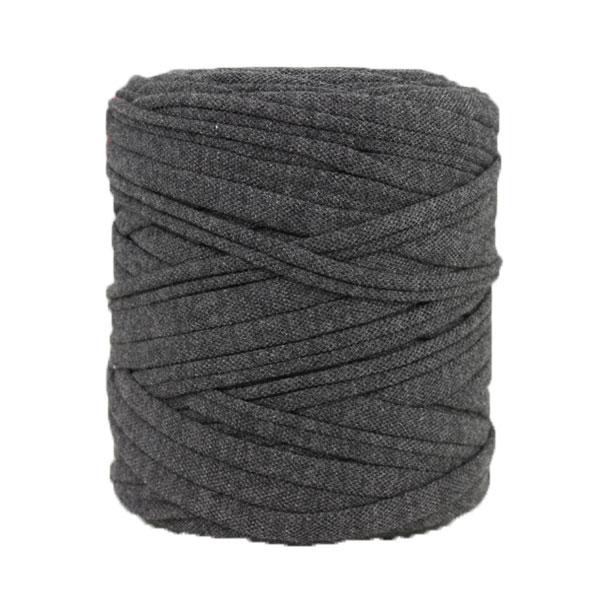 Trapilho gris anthracite - Bobine, pelote de t-shirt yarn, Hooked, zpagetti, trapillo. Fil de tissu recyclé en jersey pour crochet, tricot, tissage, macramé, bijoux