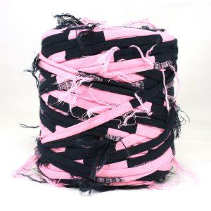 Trapilho rose marine - Bobine, pelote de t-shirt yarn, Hooked, zpagetti, trapillo. Fil de tissu recyclé en jersey pour crochet, tricot, tissage, macramé, bijoux
