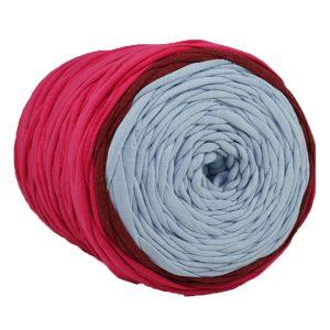 Trapilho multi-fils - Bobine, pelote de t-shirt yarn, Hooked, zpagetti, trapillo. Fil de tissu recyclé pour bijoux, crochet, tricot