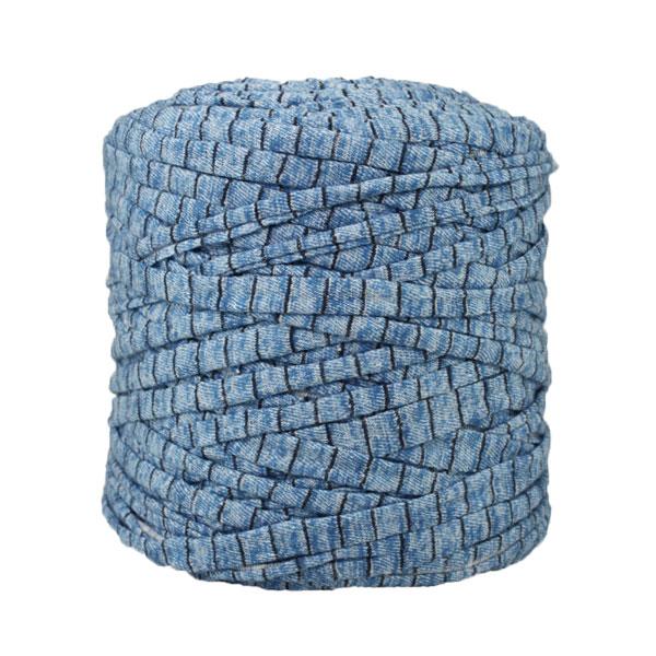 Trapilho-Bobine Imprimé-Bleu-Noir