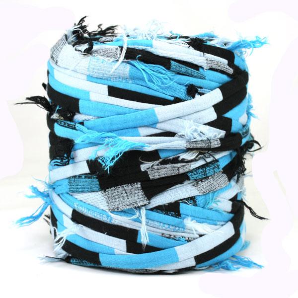 Trapilho-bobine-rayé bleu noir