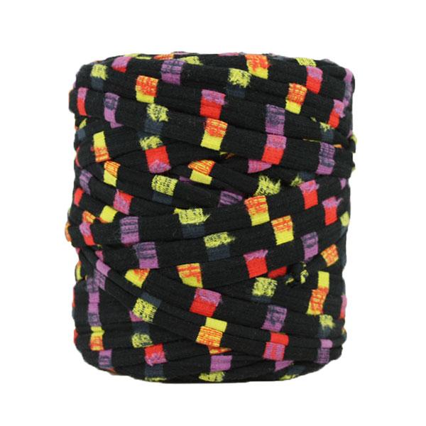 Trapilho - Bobine -Rayé-noir-multicolore