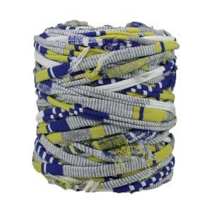Trapilho - Bobine -Imprimé-bleu-jaune