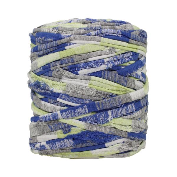 Trapilho-Bobine-imprimé-bleu-vert