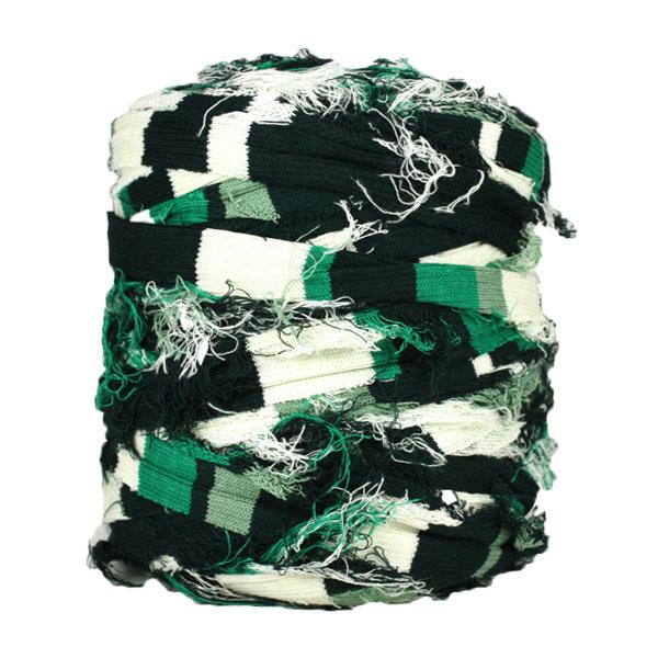 Trapilho-Bobine-rayé-vert-blanc-cassé