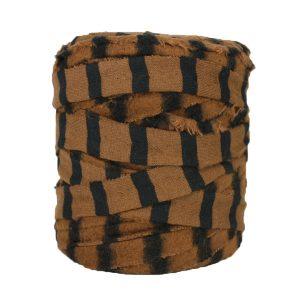 Trapilho-bobine-rayé-noir-marron